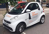 Cat's Whiskers smart car, the Catmobile!